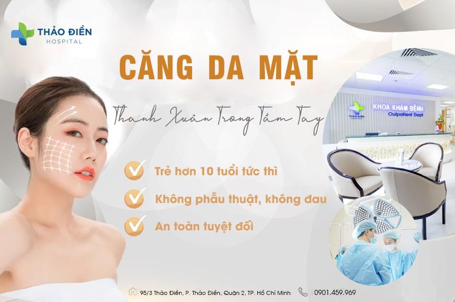 Thực hiện căng da mặt tại Bệnh viện Quốc Tế Thảo Điền