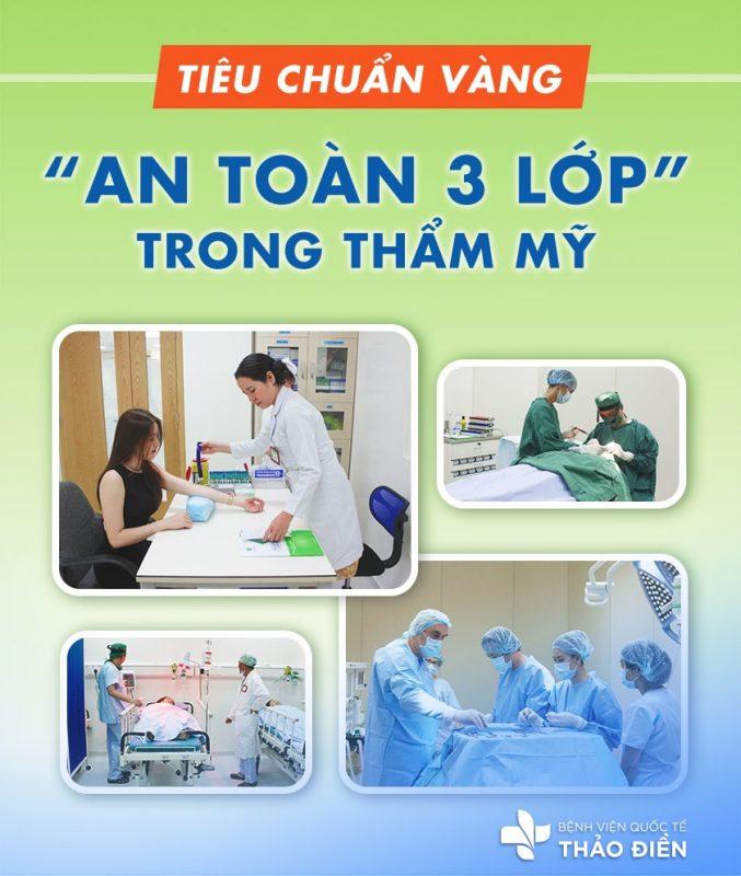 an toàn 3 lớp tại bệnh viện quốc tế thảo điền