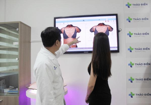 Mô phỏng công nghệ nâng ngực nội soi 5D